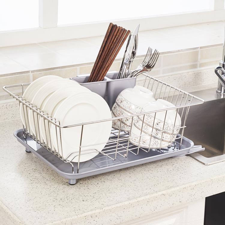 304不銹鋼碗碟架瀝水架瀝水籃單層碗筷架置晾放碗架子廚房置物架
