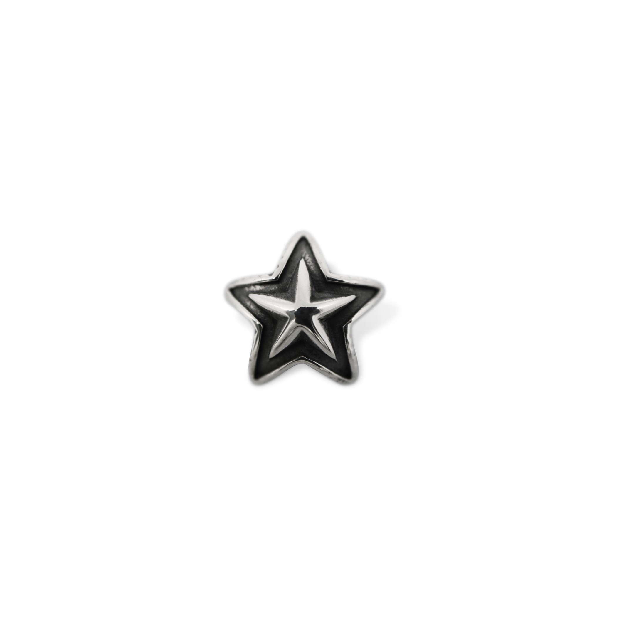 TINY DOUBLE FACE STAR PENDANT   [USD $320]