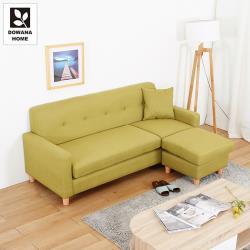【多瓦娜】溫德小雅L型布沙發/四色