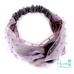 Hera 赫拉 甜美皺褶雪紡 純色彈力網紗 寬邊束髮帶髮箍-4色