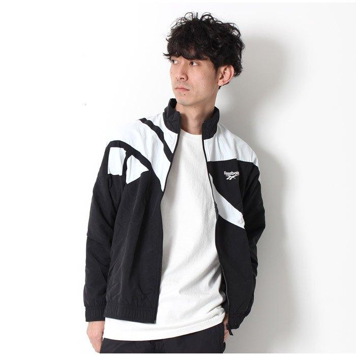 KUMO SHOES-現貨Reebok Classic Track Jacket Black 黑白 大LOGO 風衣外套 BK5095