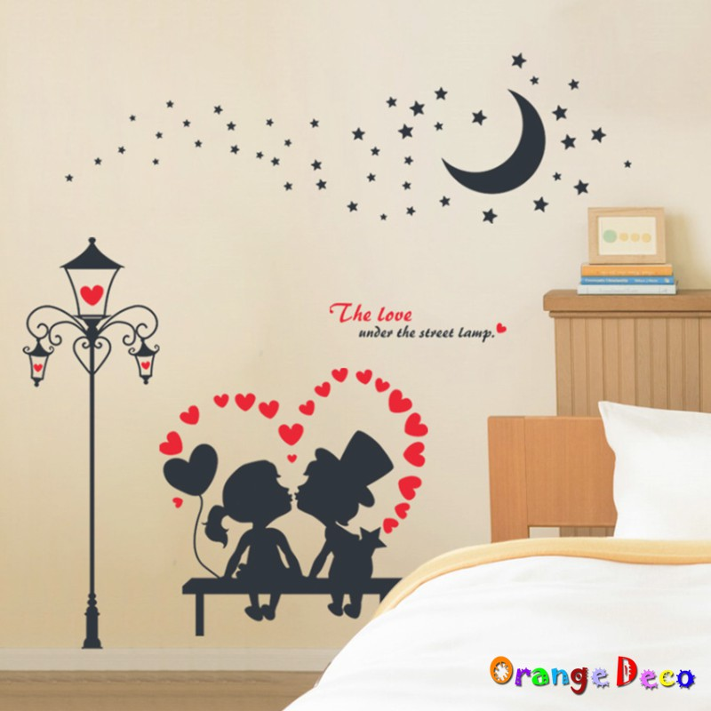 【橘果設計】月光下 壁貼 牆貼 壁紙 DIY組合裝飾佈置