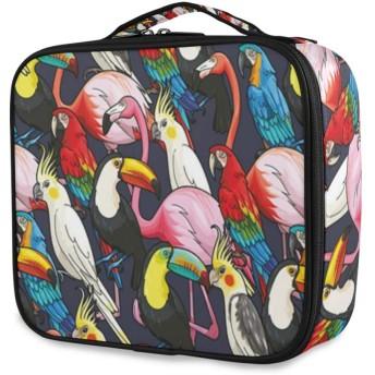 TARTINY 化粧ポーチ 大容量 機能的 メイクポーチ 旅行 トラベル 化粧品収納バッグ 撥水 軽量 複数のスタイル 動物のカラフルなエキゾチックな鳥のプリント コスメケース コスメバッグ メイクボックス