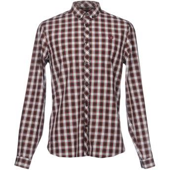 《セール開催中》FRED PERRY メンズ シャツ ブラウン XS コットン 100%