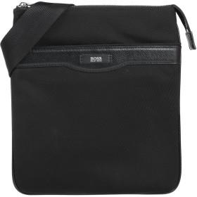 《セール開催中》BOSS HUGO BOSS メンズ メッセンジャーバッグ ブラック ナイロン 100% / 牛革(カーフ)