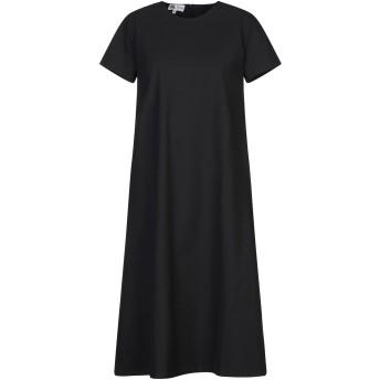 《セール開催中》BINI Como レディース 7分丈ワンピース・ドレス ブラック 40 コットン 100%