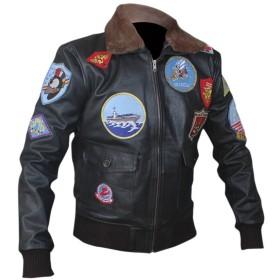 F&H Men's Top Gun Bomber Jacket S Black