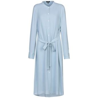《セール開催中》THEORY レディース 7分丈ワンピース・ドレス スカイブルー L シルク 100%