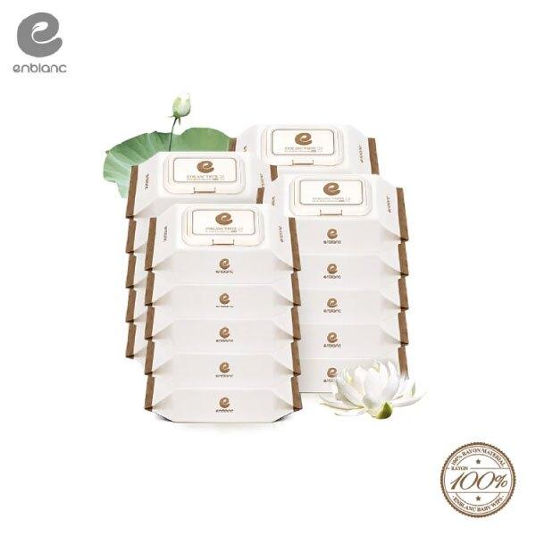 Enblanc   極柔純水有蓋大包濕紙巾-蓮花萃取物   24抽20入