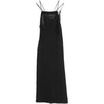 《セール開催中》MAISON MARGIELA レディース ロングワンピース&ドレス ブラック 38 ポリエステル 100%