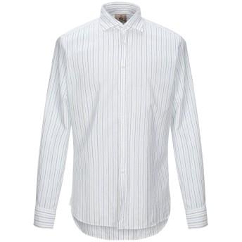 《セール開催中》GUY ROVER メンズ シャツ アジュールブルー 41 コットン 100%
