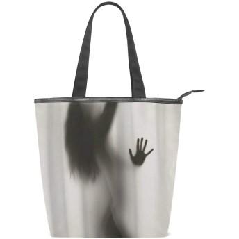KENADVIトートバッグ 最高級 軽量 キャンバス レディース ハンドバッグ 通勤 通学 旅行バッグ、セクシーレディシャドウダンス美しい、スタイリッシュ グラフィックス 収納袋