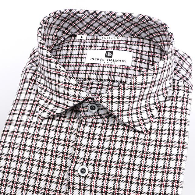皮爾帕門pb灰色格紋、保暖實穿、超值長袖襯衫外套63170-10 -襯衫工房