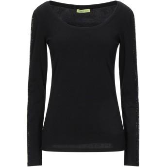 《セール開催中》VERSACE JEANS レディース T シャツ ブラック XXS コットン 95% / ポリウレタン 5%