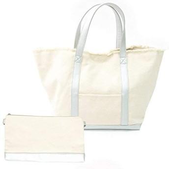 2wayマルチトトートバッグ キャンバスバッグ ママバッグ ハンドバッグ ショルダーバッグ 鞄 かばん 舟形 マチ レディース DONOBAN ORIGINAL ドノバンオリジナル フリンジ/シルバー