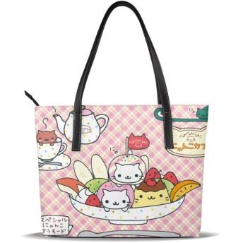 トートバッグ レディース かわいい猫 ねこ ハンドバッグ ショルダーバッグ 手提げバッグ 大容量 収納バッグ ビジネスバッグ マザーズバッグ 防水 軽量 多機能 贈り物 通勤 通学 旅行