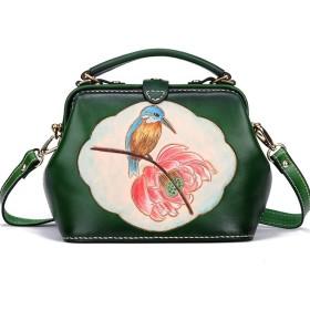 手提げ袋 レディー牛革ハンドメイドレザーレトロバッグカササギのハンドバッグ/ハンドバッグ/新ファーストレイヤー ハンドバッグ