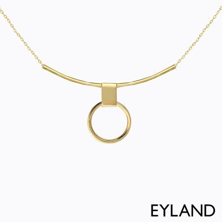 Eyland 英國倫敦 Erin Choker 幾何簡約鍍金墜飾項鍊