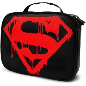 スーパーマンのシンボル 化粧ポーチ 多機能 大容量 防水 超軽量 男女兼用