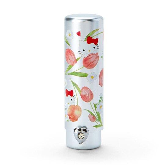 【領券折$30】小禮堂 Hello Kitty 攜帶型短柄化妝刷《粉銀》腮紅刷.刷具.春日花園系列