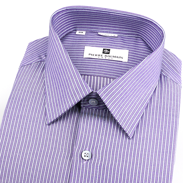 皮爾帕門pb紫色條紋、都會上班族合身長袖襯衫64163-08 -襯衫工房