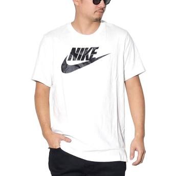 [ナイキ] Tシャツ メンズ 半袖 大きいサイズ NIKE NSW ブランドロゴ AR4993 ホワイト/ブラック XL [並行輸入品]