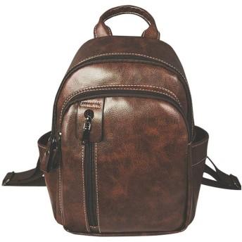10代の女の子のための女性のバックパック女性Puの革ランドセルビンテージ旅行のバックパック (Colore : Black, Size : M)