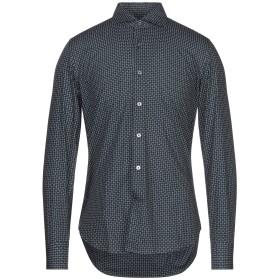《セール開催中》GHIRARDELLI メンズ シャツ ダークブルー 39 コットン 100%