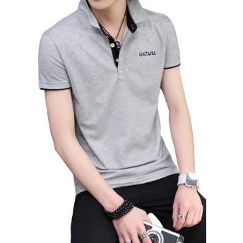 Heaven Days(ヘブンデイズ) ポロシャツ ポロ シャツ バイカラー 無地 シンプル 半袖 メンズ 1706G0180