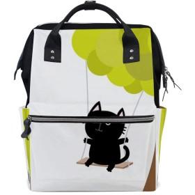 Zhigua マザーバッグ 大容量 レディースリュック ママバッグ 出産準備 多機能鞄 ベビー用品 PC収納 磨耗に強く 盗難防止 バックパック リュックサック メンズ おしゃれ 可愛い猫柄 ユニセックス 人気 通学 通勤 出張 旅行 男女兼用