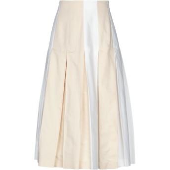 《セール開催中》SPORTMAX CODE レディース 7分丈スカート ホワイト 42 コットン 61% / リネン 39%