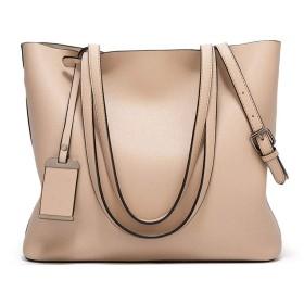 手提げ袋 レディーファッション/シンプルなレトロハンドバッグトートバッグ大容量ショルダー/ハンドレジャーワイルドハンドバッグ(33  14  29センチメートル) 手提げ袋 (Color : White)