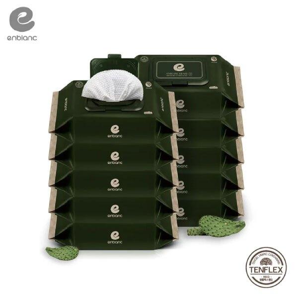 Enblanc   極柔純水有蓋攜帶裝濕紙巾-仙人掌萃取物  68抽10入