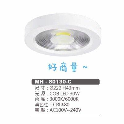 好商量~ MARCH LED 30W 吸頂燈 22CM 簡約 北歐風 全電壓 MH-80130-C