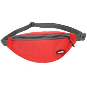 YIKETING ハイキング登山ハイキング、ナイロン防水メンズと女性の多機能スポーツ財布ウエストバッグを走行ベルトバッグアウトドア (Color : Red)