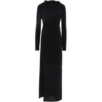 《セール開催中》PATRIZIA PEPE SERA レディース ロングワンピース&ドレス ブラック 1 アセテート 75% / ナイロン 20% / ポリウレタン 5%