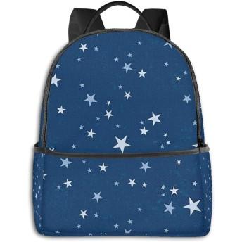 星空 星柄 リュックバック リュックナップザック バッグ ノートパソコン用のバッグ 大容量 バックパックチ キャンパス バックパック 大人のバックパック 旅行 ハイキングナップザック