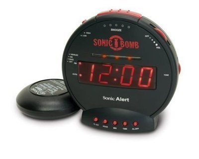 【Q比】美國原裝 Sonic Boom SBB500ss「爆響+震動」鬧鐘 Alert 音波炸彈
