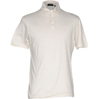《セール開催中》ZANONE メンズ ポロシャツ ライトグレー 48 麻 59% / コットン 41%