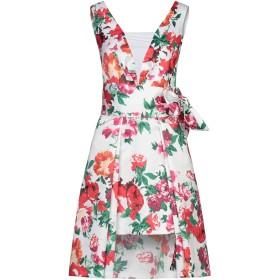 《セール開催中》ALESSANDRO LEGORA レディース ミニワンピース&ドレス ホワイト 42 ポリエステル 100%