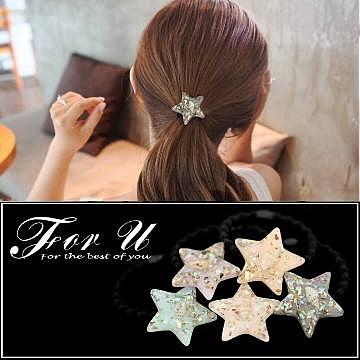 FOR U 韓版 甜美糖果色海星造型髮圈