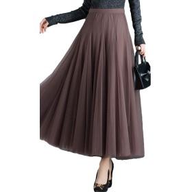 Heaven Days(ヘブンデイズ) スカート チュールスカート ロングスカート ウエストゴム Aライン レディース 1904B0280