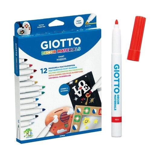 【義大利 GIOTTO】裝飾筆(12色) ★產地:義大利 / 特殊筆