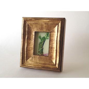 ネイルカラーで描いたガラス絵 「タラの芽」