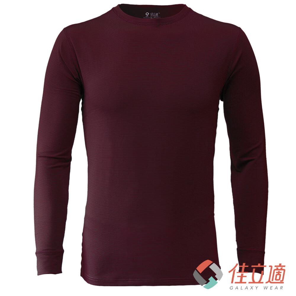 3m-佳立適-升溫蓄熱保暖衣-男圓領-紅色