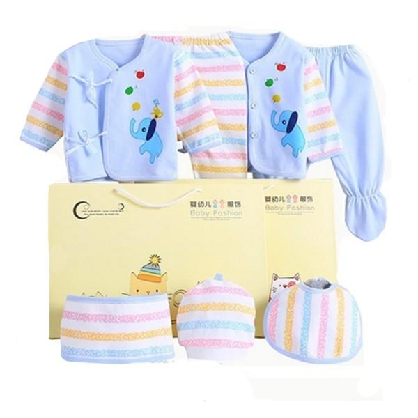 新生兒禮盒 初生嬰兒服7件組 彌月禮盒 寶寶禮盒 附提袋 ZH1902652 好娃娃