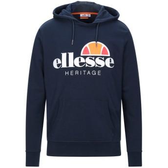 《セール開催中》ELLESSE メンズ スウェットシャツ ダークブルー S コットン 80% / ポリエステル 20%