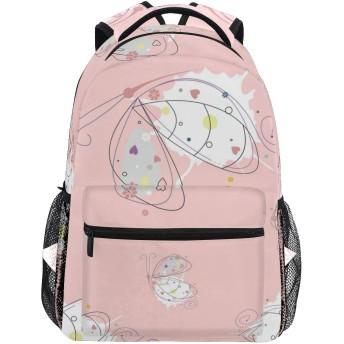 胡蝶 ピンク かわいい リュック デイパック レディース 通学 学生 旅行 大きい 大容量 アウトドア 男女兼用 リュックサック 軽量 防水 男女兼用