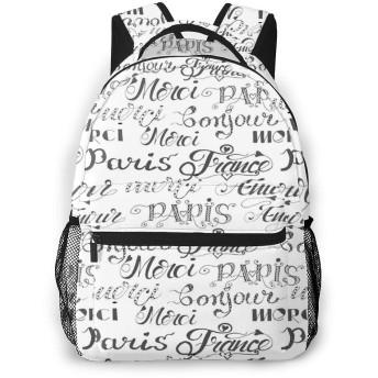 リュック 言葉の情事16, バックパック リュックサック ビジネスリュック メンズ レディース カジュアル 男女兼用 軽量 通勤 通学 旅行 鞄 バッグ カバン