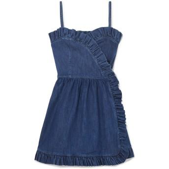 《セール開催中》STELLA McCARTNEY レディース ミニワンピース&ドレス ブルー 38 コットン 98% / ポリウレタン 2%